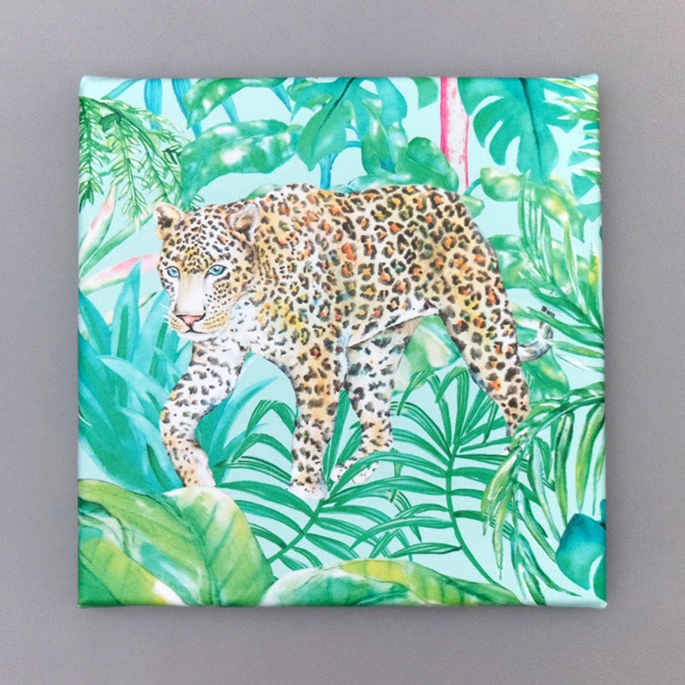 Leopard - Mini Canvas Print