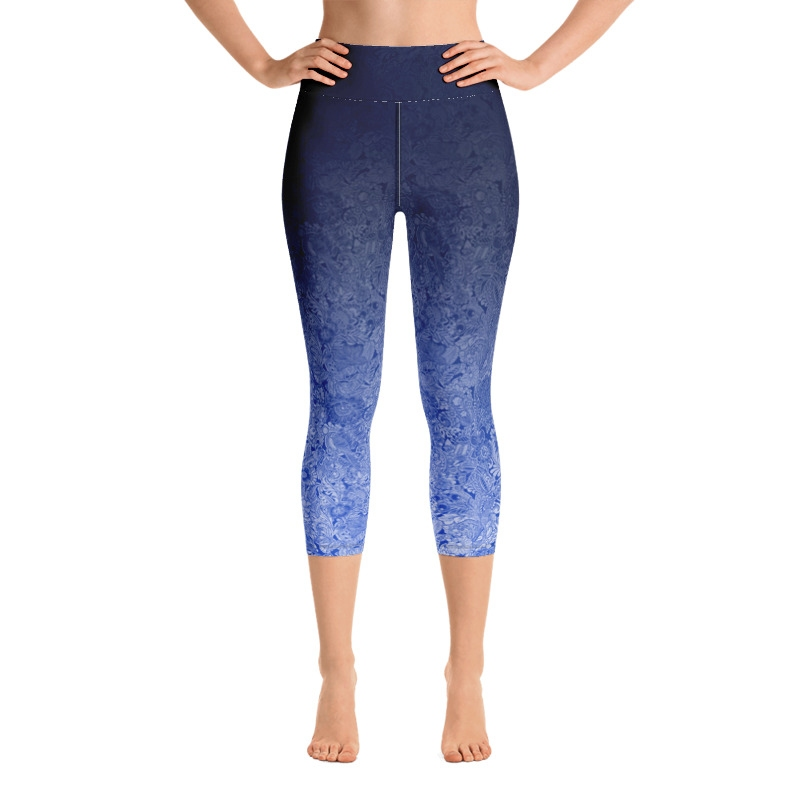 Flo High Waist Capri Leggings - Blue