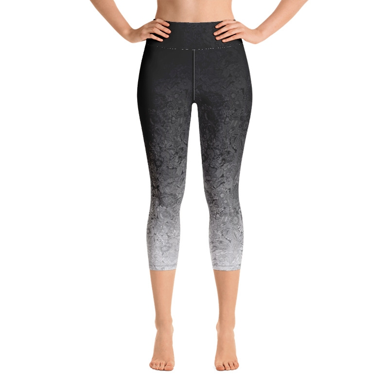 Flo High Waist Capri Leggings - Black