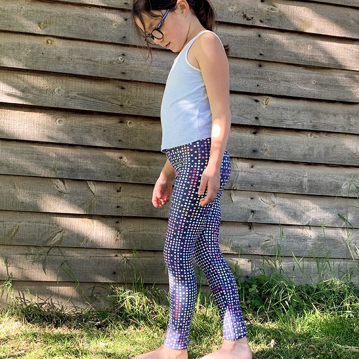 Disco Dot Blue Children's Leggings