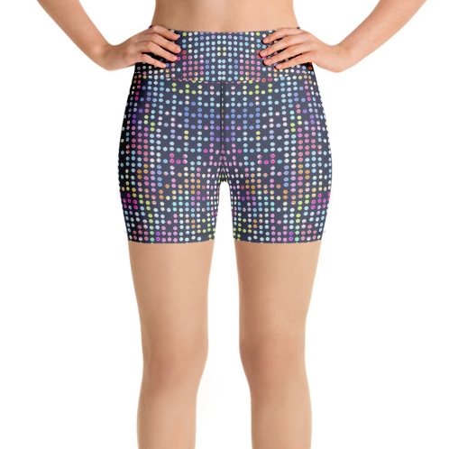 Disco Dots High Waist Shorts