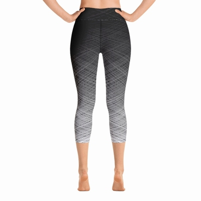 Odyssey High Waist Capri Leggings - Black