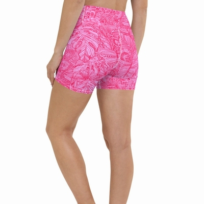 Tallulah High Waist Shorts - Hot Pink